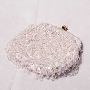 Vintage Beaded Pochette with Chain Strap